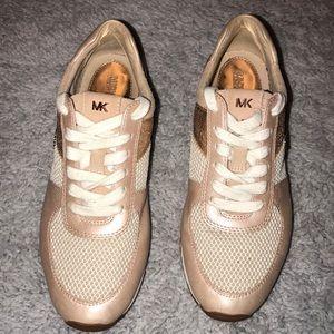 Rose Gold MK Sneakers
